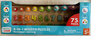 Chuckle /& Roar Montessori Shapes /& Numbers Learning Puzzle 75pc