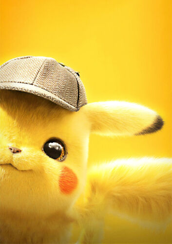 CHOOSE UR SIZE Pokémon Detective Pikachu Poster NEW 2019 Pokemon Movie FREE P+P