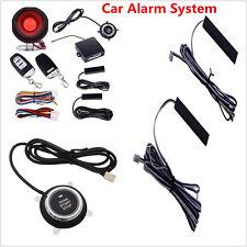Passive Keyless Car Alarm System With Push Button Start Remote Engine Starter