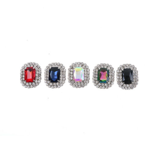 1 STÜCK frauen kristall strass metall schuhe clips brautschuh charme decor ^ZXJ