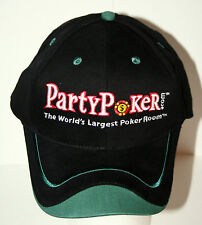 Official Party Poker Room Card Game Gambling Texas Hold Em Cap Hat New OSFM