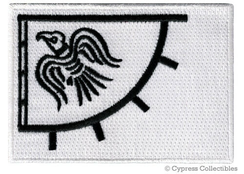 LOT of 2 RAVEN BANNER FLAG PATCH iron-on VIKING EMBLEM embroidered LEIF ERICSON