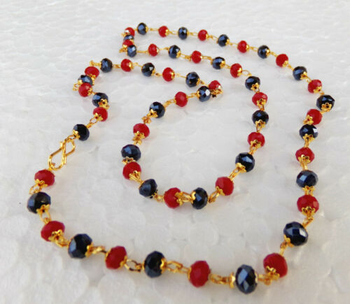 South Indian Jewelry Ethnic Gold Plated Beaded Necklace Chain 22k Light Mala p10