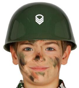 Kinder Helm Soldat Militär Armee Army Soldier Kostüm Zubehör Kopfbedeckung