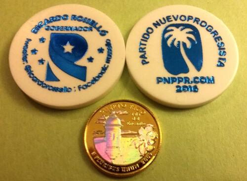 Set 6 ELECCIONES 2016 PUERTO RICO Politics Partido Politico BIG PESO size 1//200
