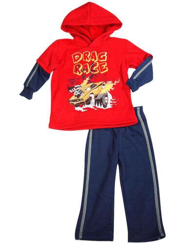 Disney Cars Toddler Boys Long Sleeve Fall Winter 2 PC Jog Sweatsuit Outfit Set