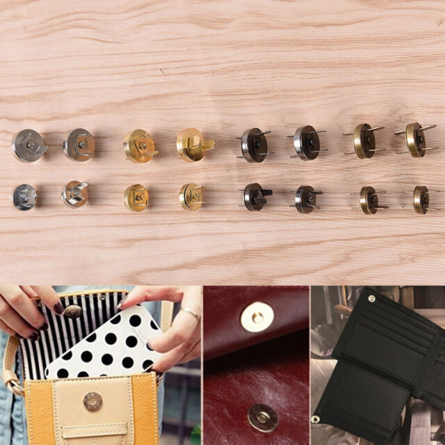 10x Magnetic Snap Handbag Purse Clasp Button Bag Accessories Parts Bag Buttonfj
