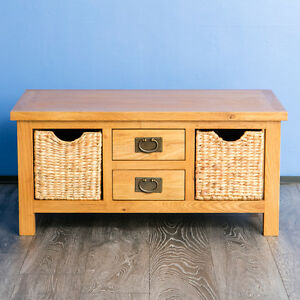 Image Is Loading Surrey Oak Coffee Table With Storage Solid Wood