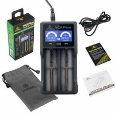 Xtar VC2 Plus Battery Charger+USB Cable For 26650 18650 16340 AA AAA Ni-MH Ni-CD