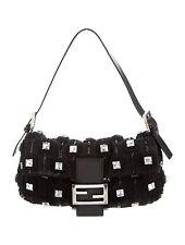 FENDI Beaded Crystal Embellished Baguette Bag