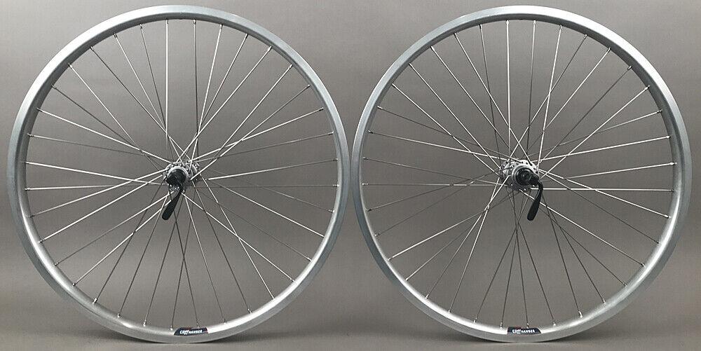Image 1 - Silver-Heavy-Duty-Velocity-Cliffhanger-29-034-700c-MTB-Bike-Tubeless-Wheels-Shimano