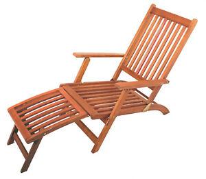 Liegestuhl Gartenstuhl.Details Zu Deckchair Mit Abnehmbarem Fußteil Liegestuhl Gartenstuhl Sonnenliege Garten