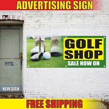 Golf Shop Banner Advertising Vinyl Sign Flag Sale Now On Sport Rent Service Open