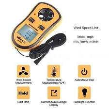 LCD Digital Pocket Anemometer Data Hold Wind Speed/Temp Meter Thermometer US