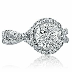 2-56-Ct-Halo-Engagement-Infinity-Ring-Round-Diamond-14k-White-Gold-Twisted-Band