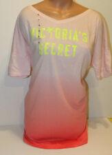 Victorias Secret bikini coverup peach orange logo palm tree pink XL sleepshirt