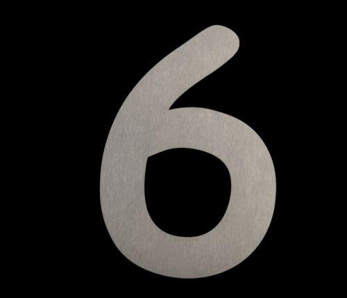 Hausnummer Comic 20 cm-Edelstahl geschl.-witterungsbeständig-einfache Montage