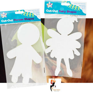 15-Cut-Out-Person-Paper-Shapes-Art-amp-Craft-Card-Kids-School-Paint-Creative-Fun