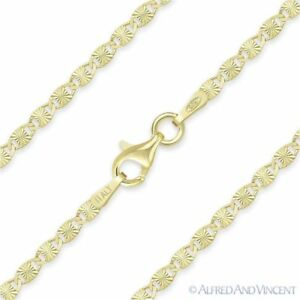 2-2mm-Valentino-Link-Chain-Necklace-925-Italy-Sterling-Silver-w-14k-Yellow-Gold