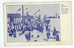 Midway-at-the-New-York-State-Fair-SYRACUSE-NY-Vintage-Postcard