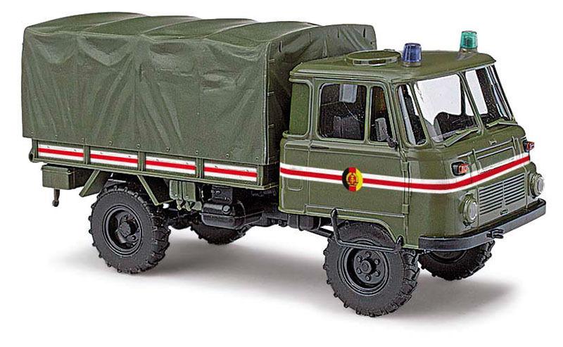 Busch 50228, Robur Lo 2002 2002 2002 a   Kommandantend Final Vehicle H0 Car Model 1 87 1a7a4b