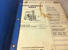 Clark Equipment C500 Parts Book Manual Forklift