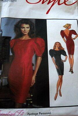 LOVELY VTG 1980's Sewing Pattern DRESS in 6-16 UNCUT
