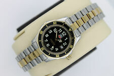 Tag Heuer 2000 Black WM1320 Professional Sport SS Watch Womens Gold Mint Crystal