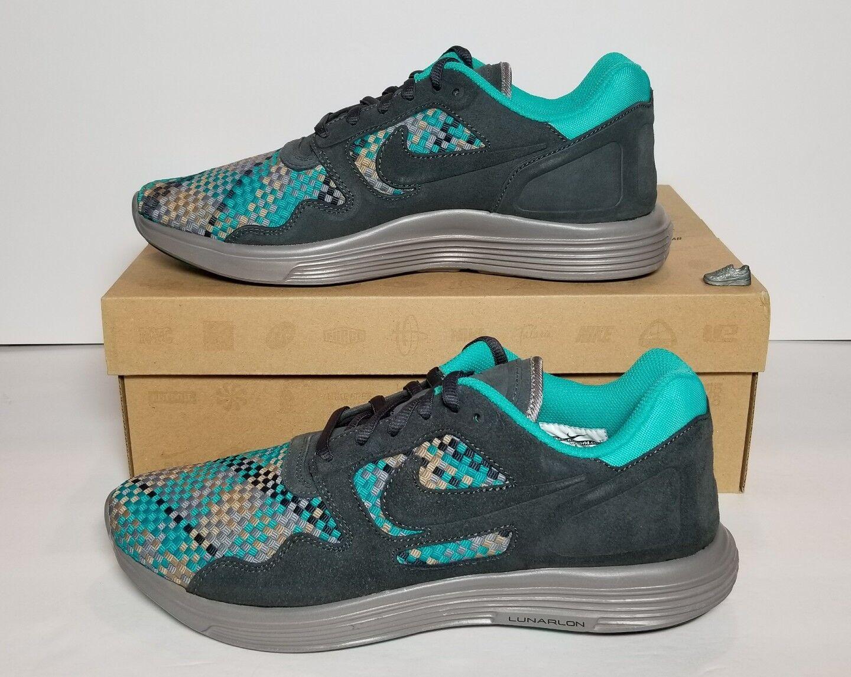 Nike lunar flusso tessuti qs uomini neri di nuovo / scatola molteplici dimensioni 526636 007