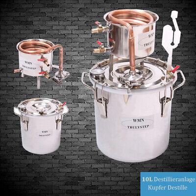 10-100L DIY Haus Alkohol Destille Destillieranlage Kühler Schnäpsen Ätherischer