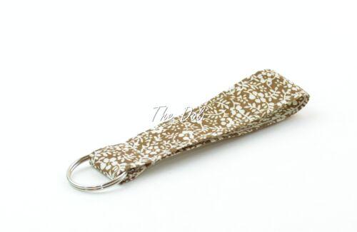 Sakura Print Wristlet Fabric Key Fob Key Chain for ID Badge Holder