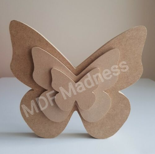 WOODEN LAYERED BUTTERFLY. MDF CRAFT SHAPE