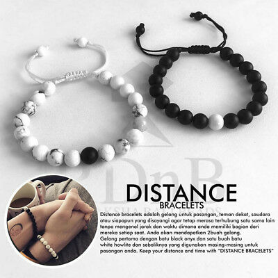 aperçu de Clairance de 60% prix plus bas avec 2Pcs Couples Bracelets Lovers Bracelet His & Hers Weaving Distance Bracelet  Gift | eBay