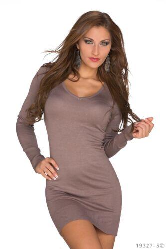 Mini 8 Women's Size Taupe Dress Stylish Wear Uk Cardigan Jumper 10 x6rSg8Iq6
