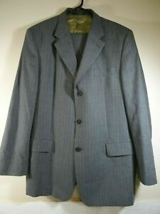 Ted-Baker-Endurance-Wool-Suit-Grey-with-Pin-Stripes-Size-Jacket-44-R-Waist-38