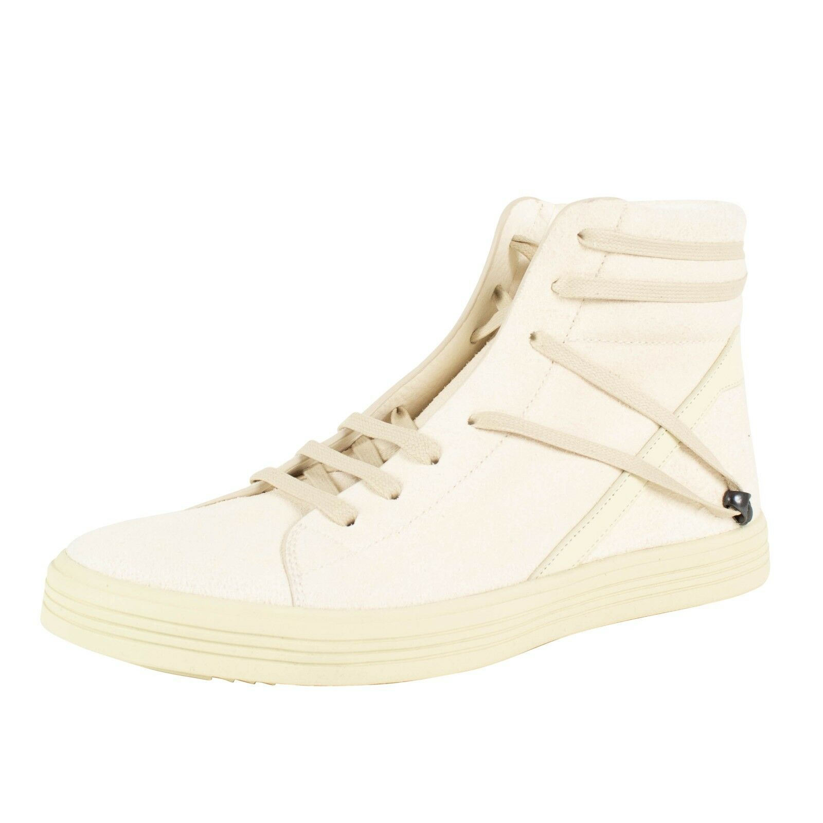 NIB RICK OWENS 'Geothrasher High Natural' Leather Sneakers shoes Size 8 41  1100
