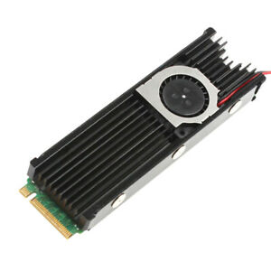 M.2 NVMe NGFF PCI-E 2280 SSD Heatsink Cooling Radiation Fin with Thermal Pads