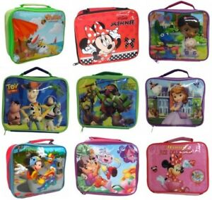 5c629493cc4f Details about Official Character Childrens Lunch Bag Picnic Bag Lunch Box  Back To School Kids