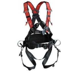 Profi-Klettergurt-Kletterausruestung-Fallschutz-Baumpflege-Auffanggeraet-3-Punkt