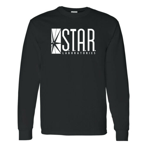 STAR Laboratories The Flash TV Barry Allen Star Labs Mens Long Sleeve Shirts