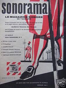 PUBLICITE-DE-PRESSE-1958-SONORAMA-LE-MAGAZINE-SONORE-DE-L-039-ACTUALITE