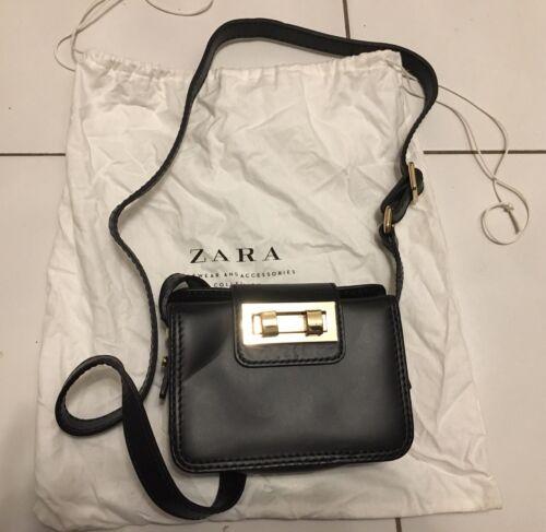 Polvo Zara Bolsa Nuevo Condicion Negro Leather Mini wg7n5qtq