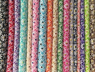 "17 - 2.5""  Crazy Daisy Jelly Roll 100% Cotton Quilting Fabric No Dups"