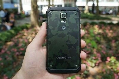 New Overstock Samsung Galaxy S5 Active SM-G870A Camo Green for AT&T T-Mobile