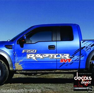F SVT Raptor Fender Door Bed Vinyl Graphics Decals F Ford - Truck bed decals customford fvinyl graphics for bed fender
