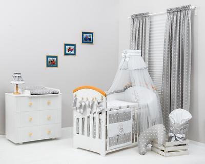 Set cordiando para la cuna de tu bebe diferentes colores y fantasia varias