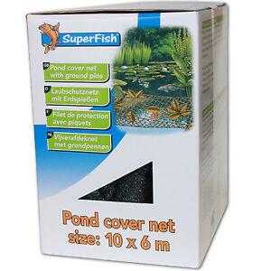 Erdspieße Gartenteich Teichnetz 6 x 4 m Laubschutznetz