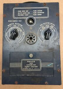 Vintage-Philco-Model-7053-Cathode-Ray-Radio-TV-Tube-Tester-USED-Needs-Resto
