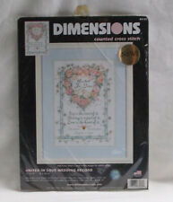 Dimensions  35125 United In Love Wedding Record Counted Cross Stitch Kit