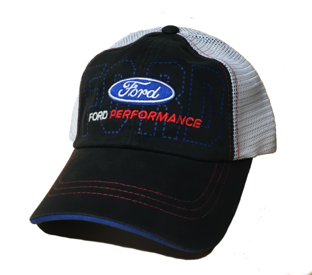BRAND NEW FORD PERFORMANCE EMBROIDERED LOGO PATCH TRUCKER HAT CAP WITH MESH  BACK bcda6943e56